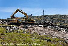 Cog Railroad Clean Up - Mt Washington, New Hampshire