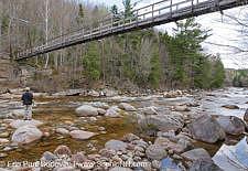 Pemigewasset Wilderness - Suspension bridge