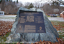 The Gage Accident plaque in Cavendish, Vermont USA