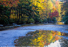 Swift River Kancamagus Highway during autumn - White Mountains, New Hampshire USA