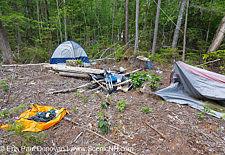 Kancamagus Byway – Campsite trash