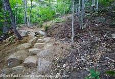 Low Impact Trail Work - Davis Path, White Mountains NH USA