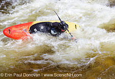 Kayaking - East Branch of the Pemigewasset River Stock Photo