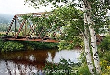 Railroad trestle along the old Boston and Maine Railroad near Fabyans in Carroll, New Hampshire USA