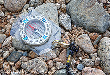 Navigation, Compass - White Mountain National Forest Stock Photo