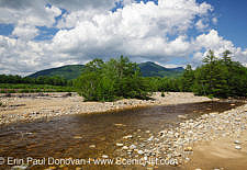 East Branch of the Pemigewasset River during the summer months in Lincoln, New Hampshire USA