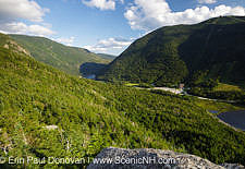 Franconia Notch State Park from Eagle Cliff in the White Mountains, New Hampshire USA