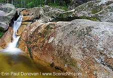 Mt Field Brook Cascades in Bethlehem, New Hampshire USA during the summer months