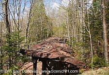 Pemigewasset Wilderness - Black Brook Trestle (Trestle 16) along the old East Branch & Lincoln Railroad in Lincoln, New Hampshire USA just pass the old Camp 16 location. This was a logging railroad which operated from 1893 - 1948.