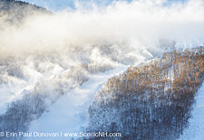 Franconia Notch State Park - Snow making at Cannon Mountain in the White Mountains, New Hampshire USA