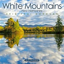 Front cover of the 2015 White Mountains New Hampshire calendar by Erin Paul Donovan