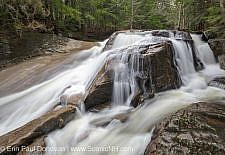 Jackman Falls along Jackman Brook in North Woodstock, New Hampshire USA during the spring months