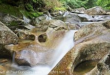 Lost River in Kinsman Notch of Woodstock, New Hampshire USA during the summer months