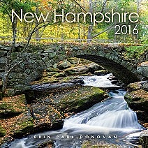 Front cover of the 2016 New Hampshire scenic wall calendar by ScenicNH Photography | Erin Paul Donovan