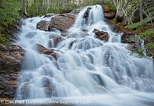 Birch Island Brook Falls along Birch Island Brook in Lincoln, New Hampshire USA