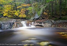 Harvard Brook in the White Mountains, New Hampshire USA during the autumn months