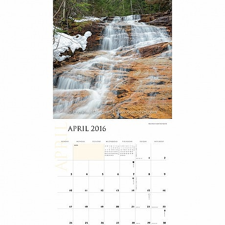 Kedron Flume - White Mountains Wall Calendar Photo
