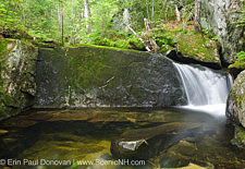 Bearcamp River in Sandwich Notch in Sandwich, New Hampshire USA