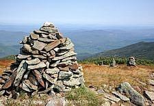 Rock cairns - Mount Moosilauke, New Hampshire USA