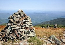 Rock cairns - Mount Moosilauke, New Hampshire USA