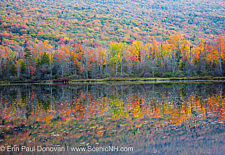 Elbow Pond during the autumn months in Woodstock, New Hampshire