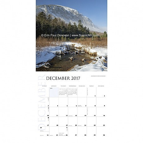 2017 White Mountains Calendar December Photo