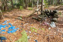 Human impact, camping Impact