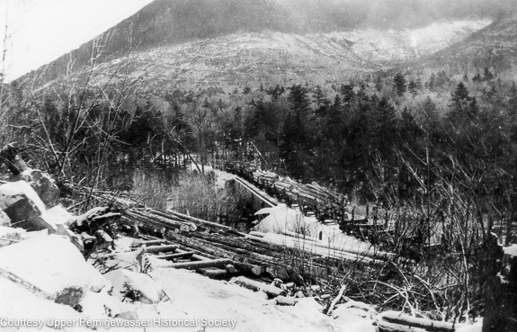 Trestle 17, East Branch & Lincoln Railroad- trestle No. 17 was located along the Upper Branch of the railroad in today's Pemigewasset Wilderness. It spanned the East Branch of the Pemigewasset River near the site of logging Camp 17.