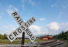 Carroll, New Hampshire - Railroad Crossing