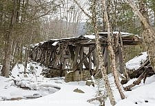Snow Covered Trestle - Pemi Wilderness, New Hampshire