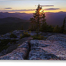 White Mountains, New Hampshire Sunset Greeting Card